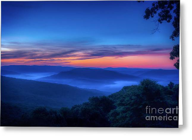 Arkansas Greeting Cards - Artist Point Sunrise Greeting Card by Larry McMahon