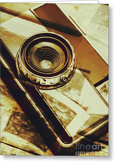 Artistic Double Exposure Of A Vintage Photo Tour Greeting Card by Jorgo Photography - Wall Art Gallery
