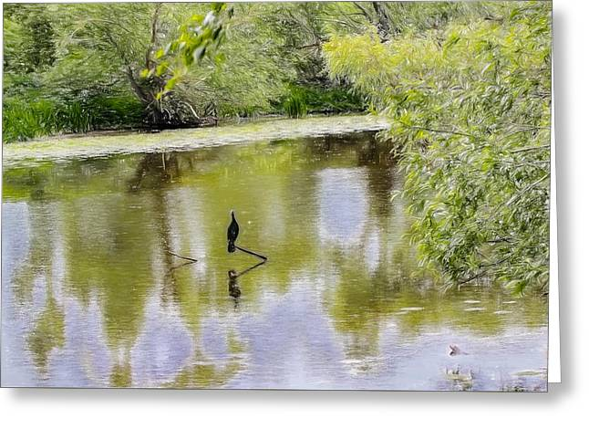 Reflection In Water Greeting Cards - Artistic en face Greeting Card by Leif Sohlman