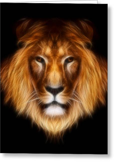 """aimelle Prints"" Greeting Cards - Artistic Lion Greeting Card by Aimelle"