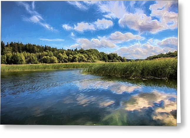 Artistic Seascape Greeting Card by Leif Sohlman