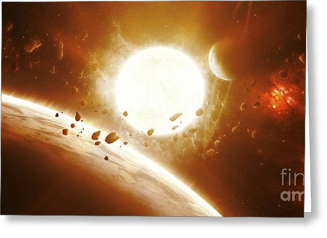 Exoplanet Greeting Cards - Artists Concept Of 51 Pegasi Greeting Card by Kevin Lafin