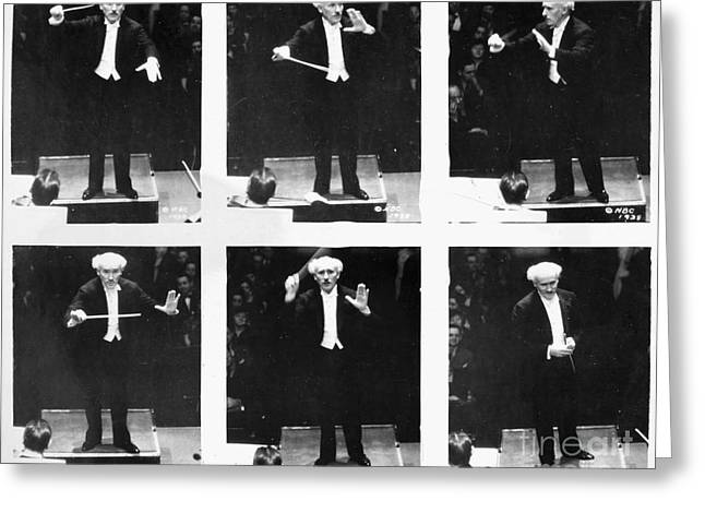 Wand Greeting Cards - Arturo Toscanini Greeting Card by Granger