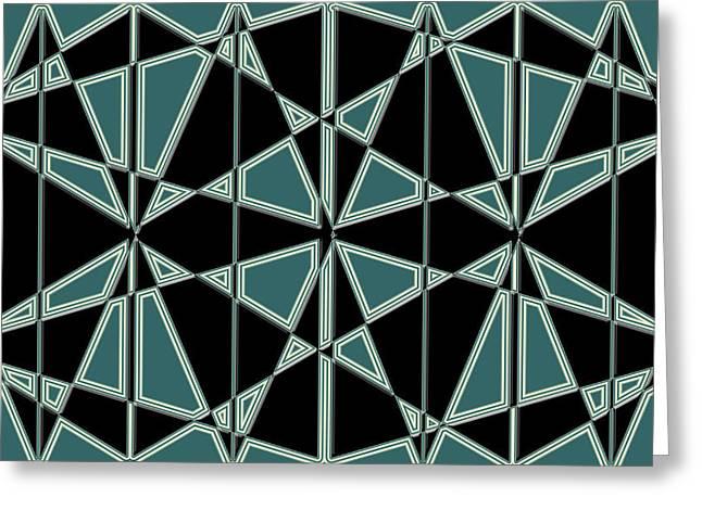 Geometric Digital Art Greeting Cards - Artwork 109 Greeting Card by Evelyn Patrick