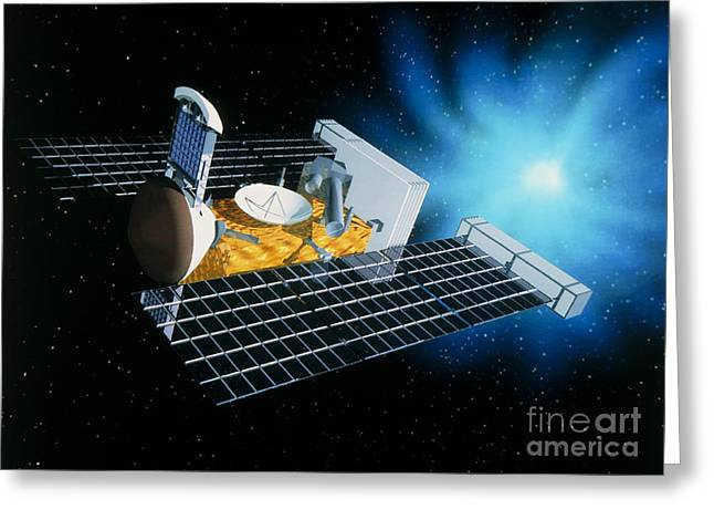 Comet Greeting Cards - Artwork Of Stardust Spacecraft Greeting Card by NASA / Science Source