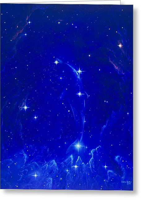 Constellations Greeting Cards - Artwork Of The Constellation Delphinus Greeting Card by Chris Butler