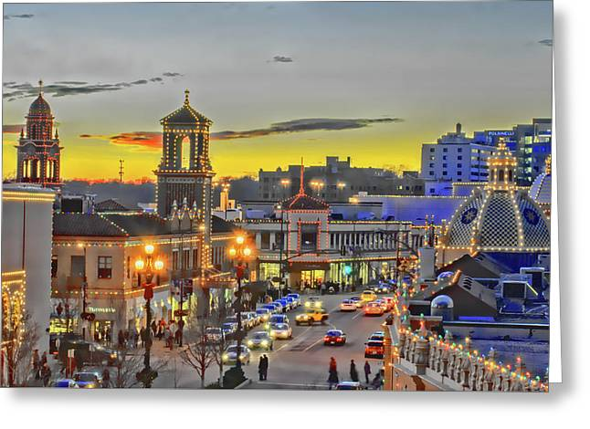 Plaza Lights Wowc Greeting Card by Kevin Anderson