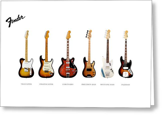 Electric Guitar Greeting Cards - Fender Guitar Collection Greeting Card by Mark Rogan