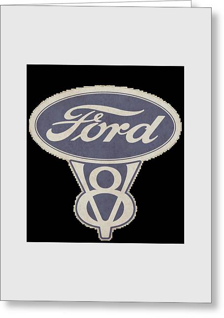 Ford Greeting Cards - Ford V8 Greeting Card by Mark Rogan