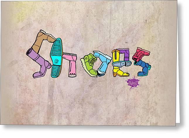 Shoes Greeting Card by Anthony Mwangi