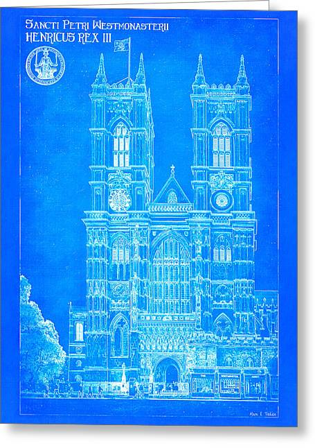 Britain Greeting Cards - Westminster Abbey Foundations - Blueprint For A Legacy Greeting Card by Mark E Tisdale