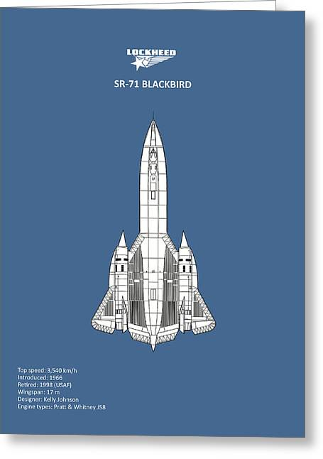 Sr-71 Blackbird Greeting Card by Mark Rogan