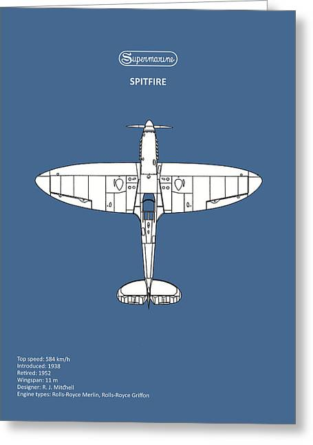 The Spitfire Greeting Card by Mark Rogan