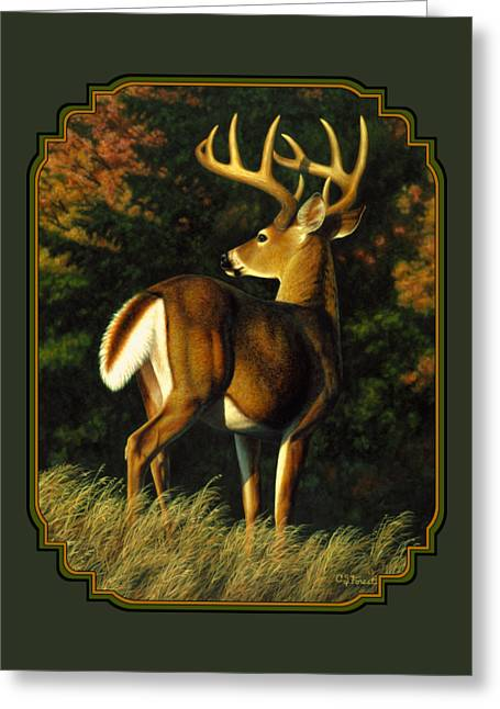 Whitetail Buck Phone Case Greeting Card by Crista Forest
