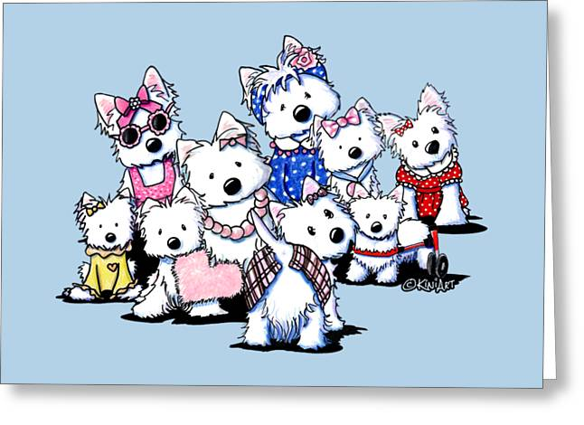 International Westie Women Greeting Card by Kim Niles