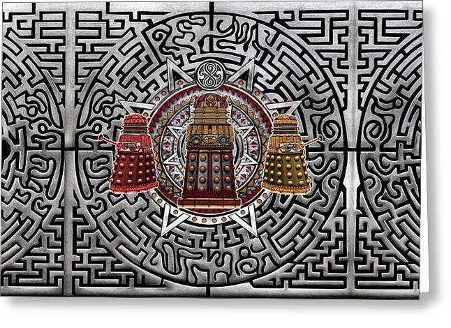 Aztec Dalek Greeting Card by Three Second