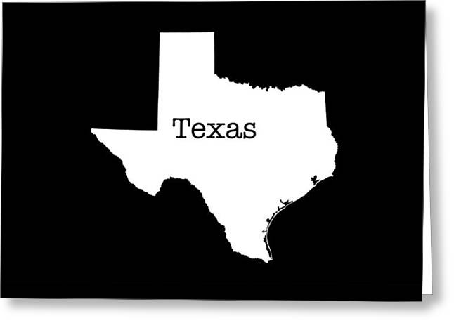 Texas State Greeting Card by Bruce Stanfield
