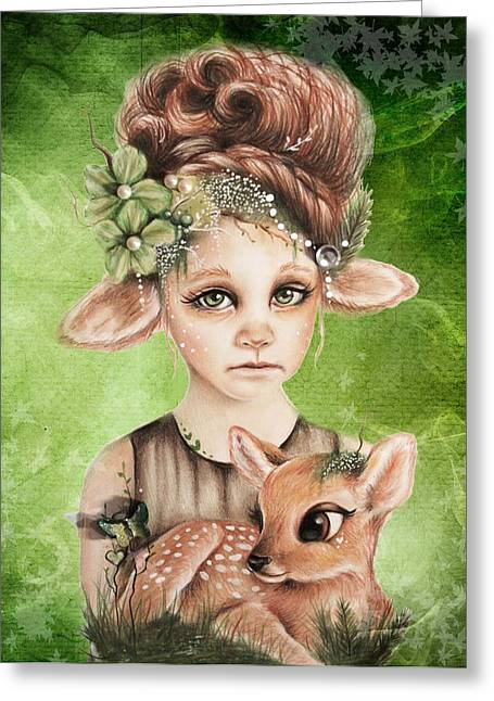 Faline - Only Friend In The World Collection Greeting Card by Sheena Pike
