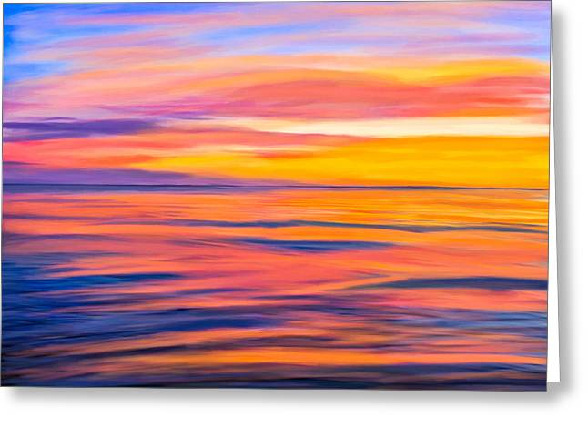 Coastal Decor Digital Greeting Cards - Puesta del sol - Rocky Point Greeting Card by Mark E Tisdale