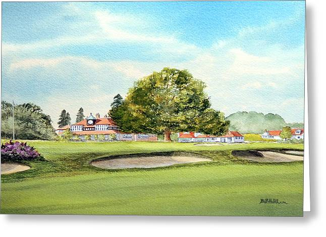Sunningdale Golf Course 18th Green Greeting Card by Bill Holkham