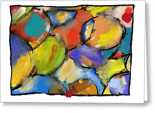 Abstract Shapes Greeting Cards - Cells 1 Greeting Card by Patric Mouth