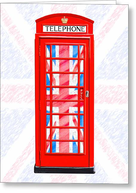 Thoroughly British Flair - Classic Phone Booth Greeting Card by Mark E Tisdale
