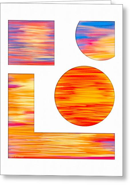 Beach Decor Digital Greeting Cards - Eternity In A Sunset Greeting Card by Mark E Tisdale