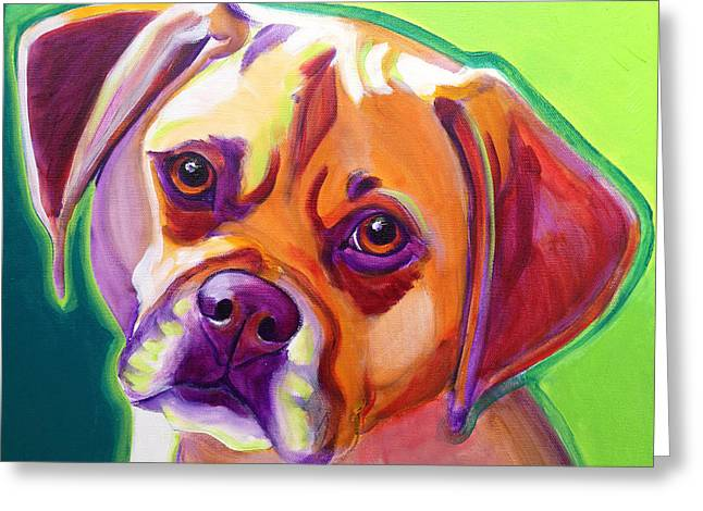 Puggle Greeting Cards - Puggle - Cooper Greeting Card by Alicia VanNoy Call