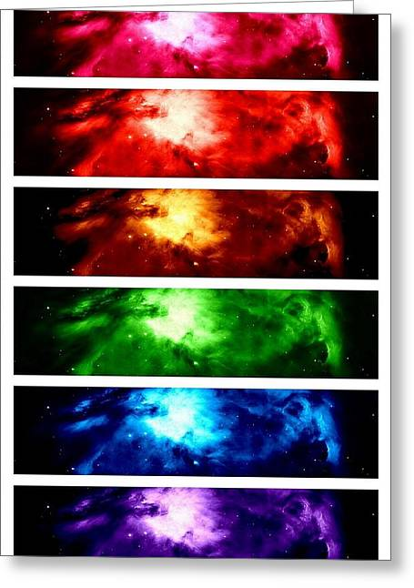 Constellations Greeting Cards - Rainbow Nebula Greeting Card by Johari Smith