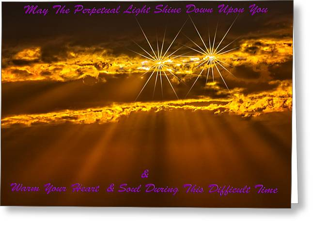 Art Book Greeting Cards - Perpetual Light Greeting Card by Mark Myhaver