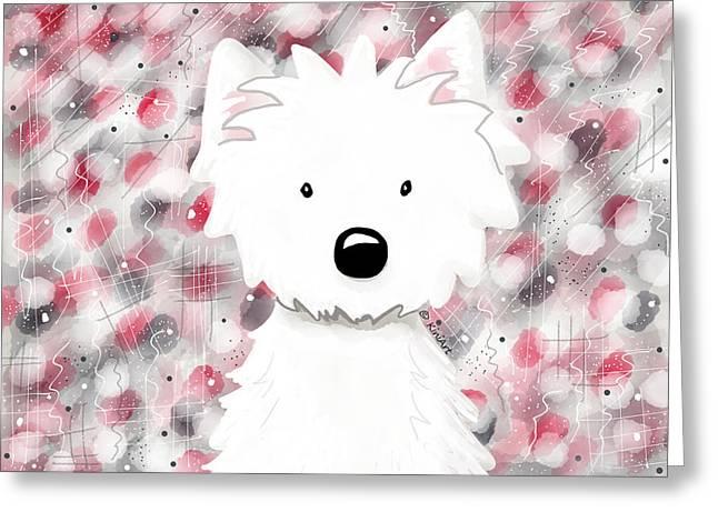 Westie Digital Greeting Cards - Westie Impressions II Greeting Card by Kim Niles