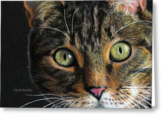 Mesmer Eyes Detail  Greeting Card by Sarah Batalka