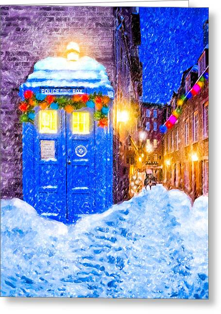 Timeless British Christmas Greeting Card by Mark Tisdale