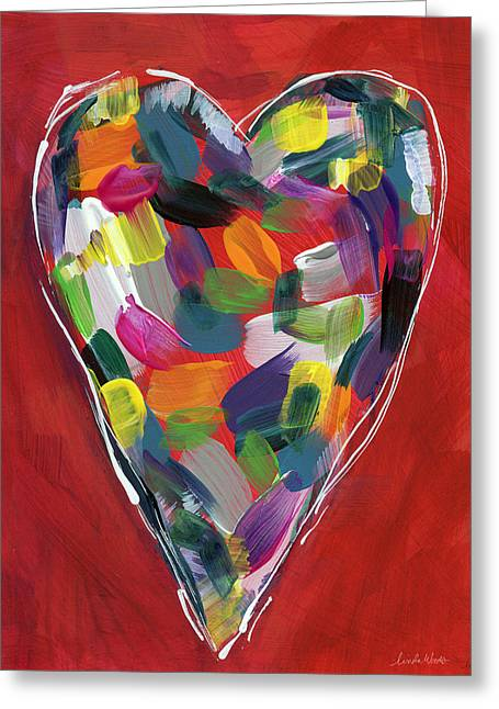 Love Is Colorful - Art By Linda Woods Greeting Card by Linda Woods