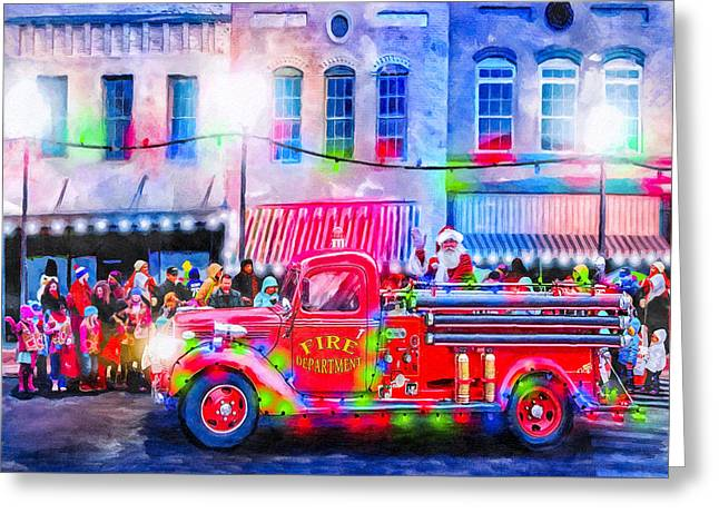 An Old Fashioned Christmas Greeting Card by Mark Tisdale