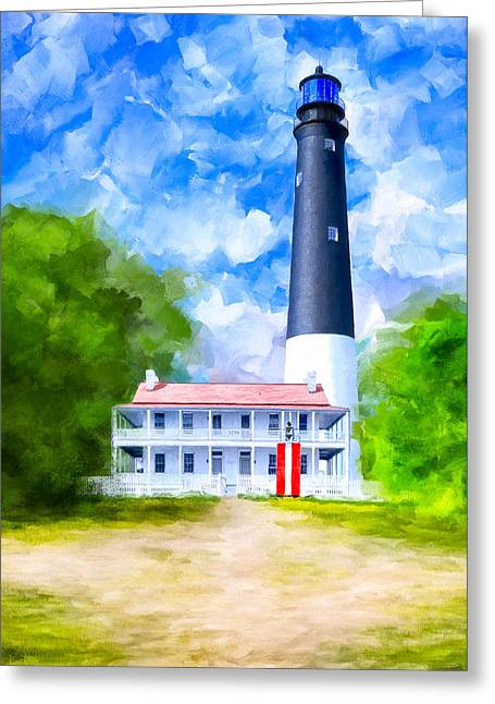 Historic Pensacola Light Greeting Card by Mark Tisdale