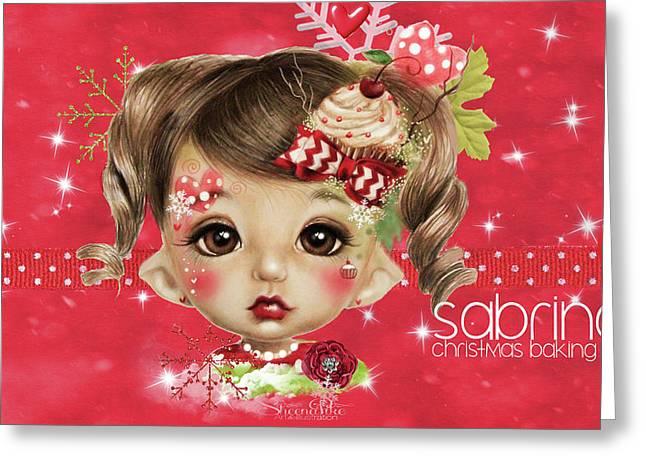 Sabrina - Elf  Greeting Card by Sheena Pike