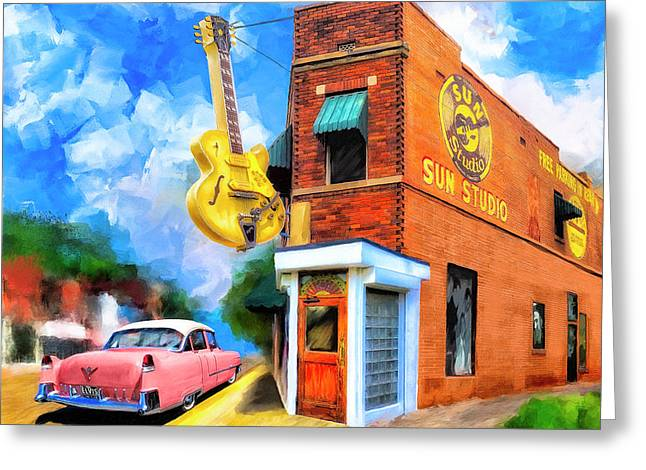 Legendary Sun Studio Greeting Card by Mark Tisdale