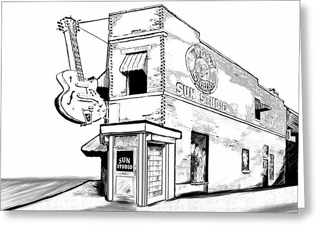 Musical History Of Memphis Greeting Card by Mark Tisdale