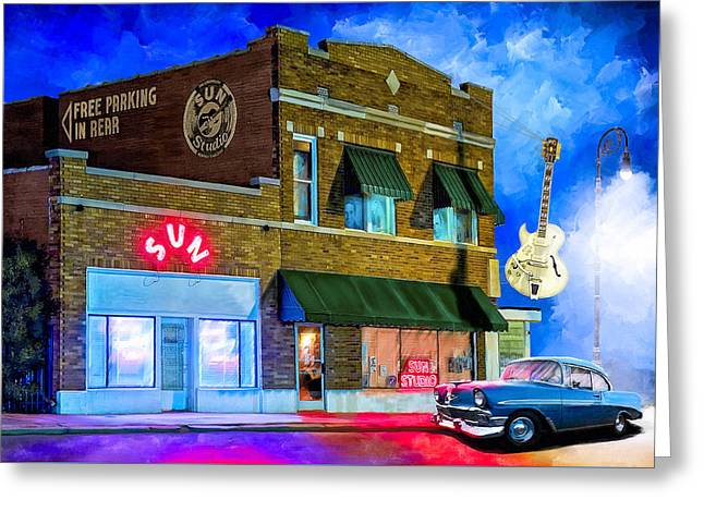 Ghosts Of Memphis - Sun Studio Greeting Card by Mark Tisdale