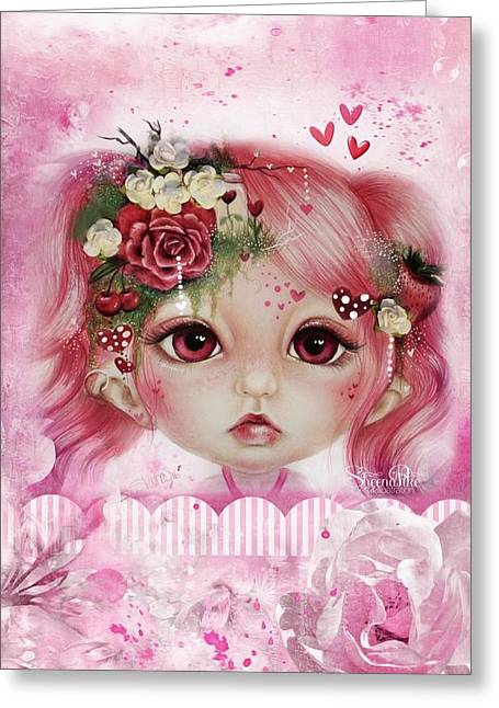 Rosie Valentine - Munchkinz Collection  Greeting Card by Sheena Pike