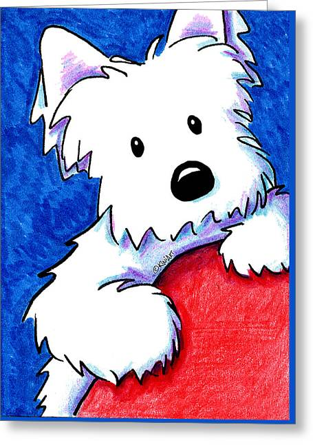 Wendell The Westie Greeting Card by Kim Niles