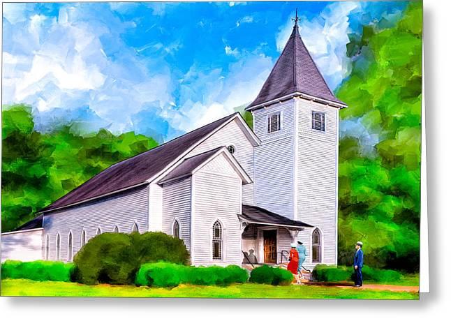 Classic Methodist Church - Oglethorpe Georgia Greeting Card by Mark Tisdale