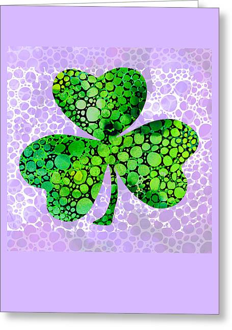 Shamrock Art By Sharon Cummings Greeting Card by Sharon Cummings