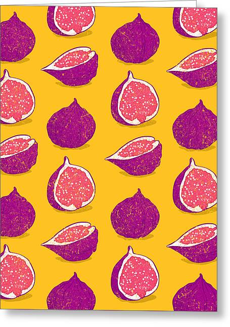 Fig Greeting Card by Evgenia Chuvardina