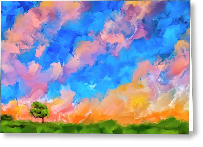 Wide Open Skies Greeting Card by Mark Tisdale