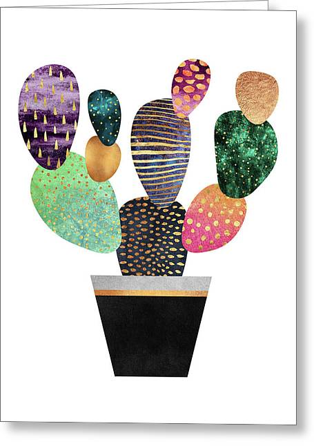 Pretty Cactus Greeting Card by Elisabeth Fredriksson