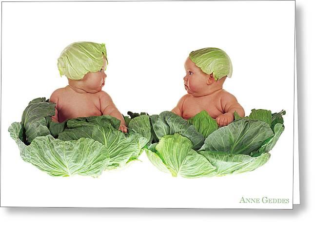 Cabbage Kids Greeting Card by Anne Geddes