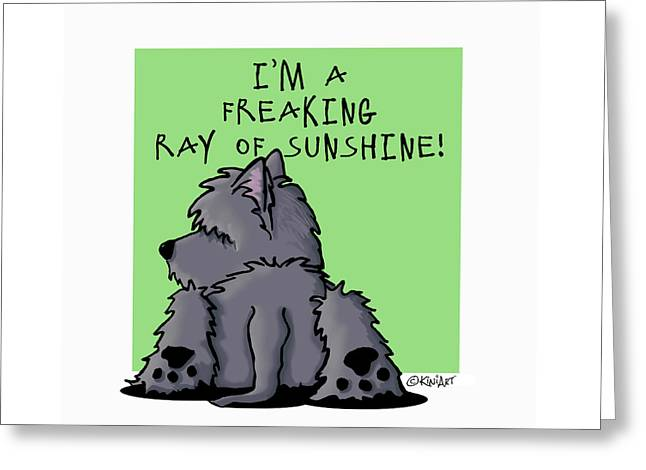 Ash Cairn Sunshine Greeting Card by Kim Niles