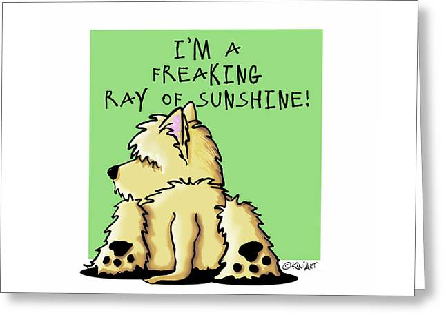 Cairn Terrier Sunshine Greeting Card by Kim Niles